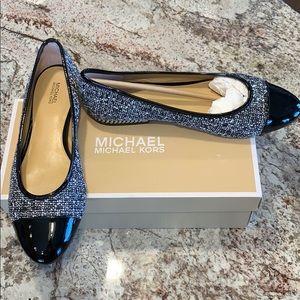 Michael Kors Sabrina Ballet tweed-black-sz  9.5